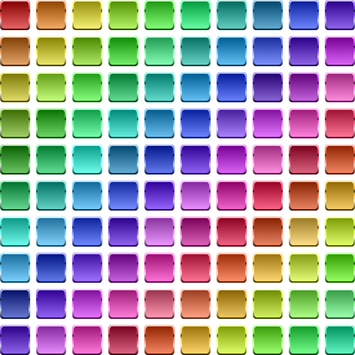 free vector graphic chart of color button color free
