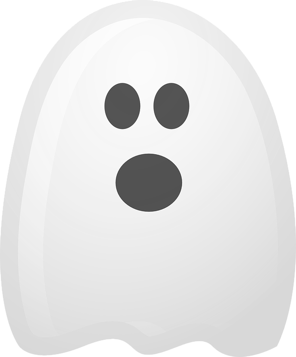 Ghost Spooky White · Free vector graphic on Pixabay