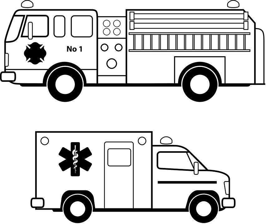 free vector graphic: ambulance, emergency, fire, truck - free
