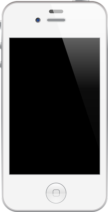 smartphone white cellphone  u00b7 free vector graphic on pixabay