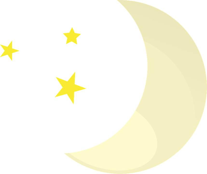 Moon Stars Night Free Vector Graphic On Pixabay