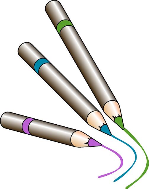 Image vectorielle gratuite crayons de couleur crayons - Tuto trousse crayons de couleur ...