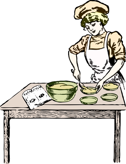 Woman Baking Bakery · Free vector graphic on Pixabay