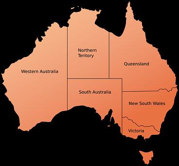 Australien New South Wales - Karte