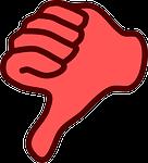 dislike, hand, thumb