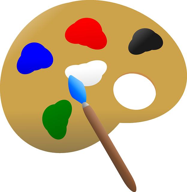 Free Vector Graphic Art Artist Paint Palette Colors