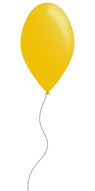 Free Vector Graphic Balloon Party Yellow Free Image