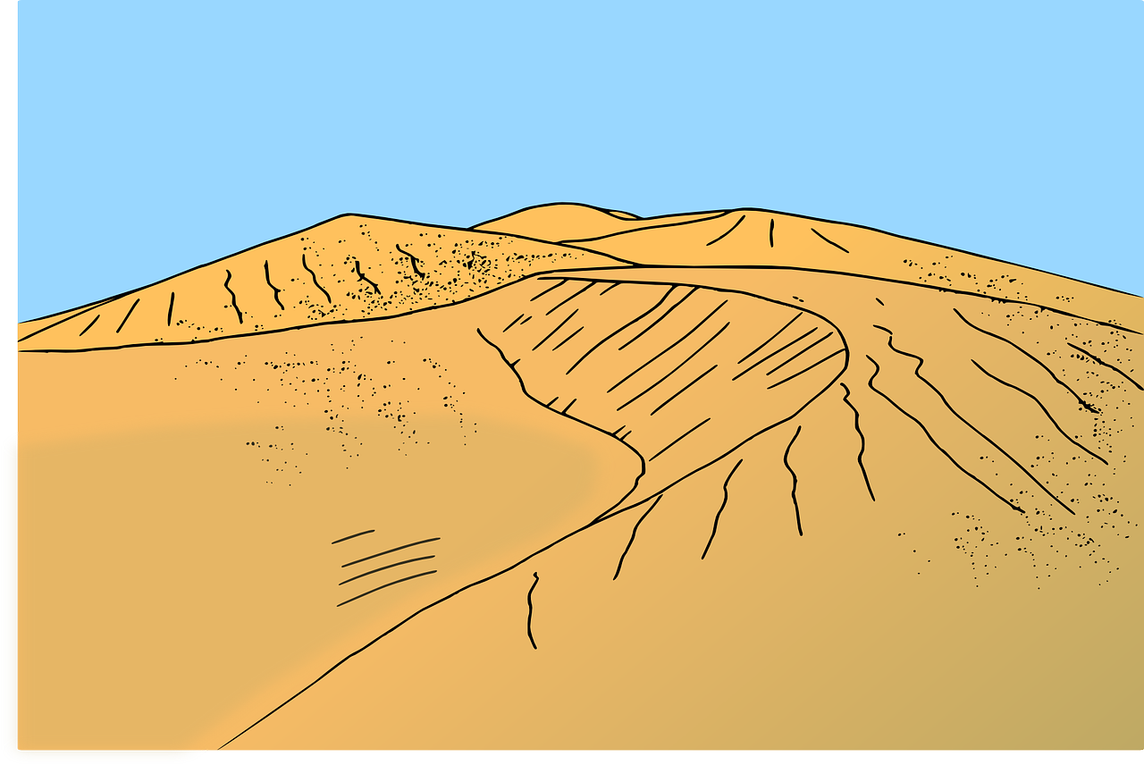 Как рисовать песчаные дюны