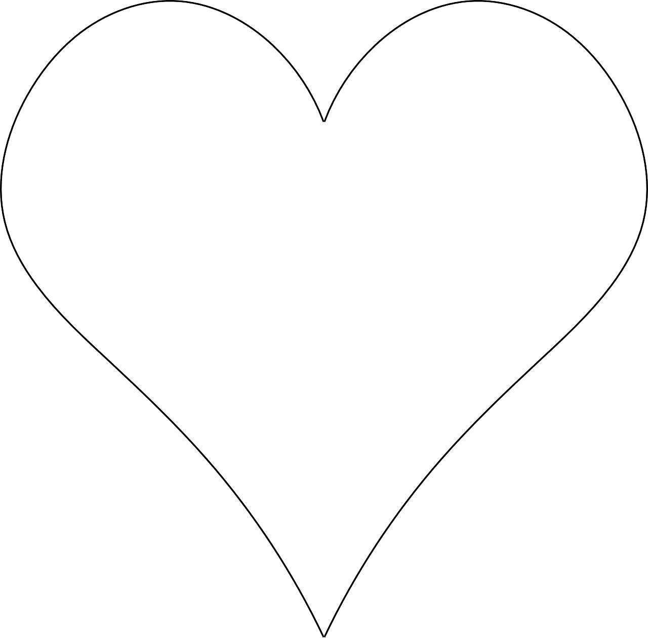 Контур сердца картинки
