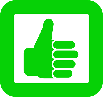 Good, Hand, Up, Green, Thumb