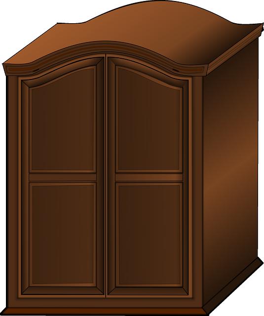 Empty Cupboard Cartoon: Free Vector Graphic: Wardrobe, Closet, Furniture, Wooden
