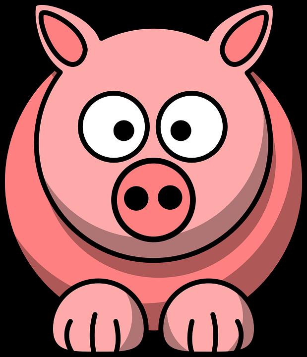 动物, 猪, 粉红色, 可爱, 脸, 搞笑, 哺乳动物, 头