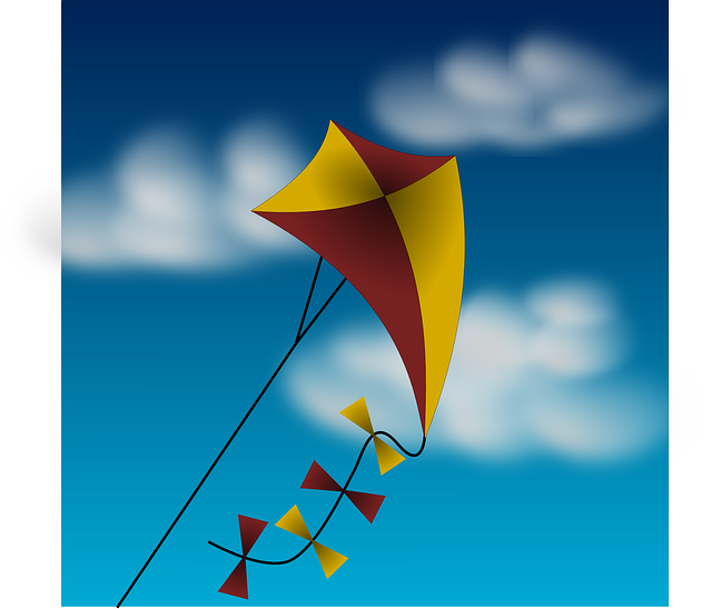Kite Wind Clouds 183 Free Vector Graphic On Pixabay