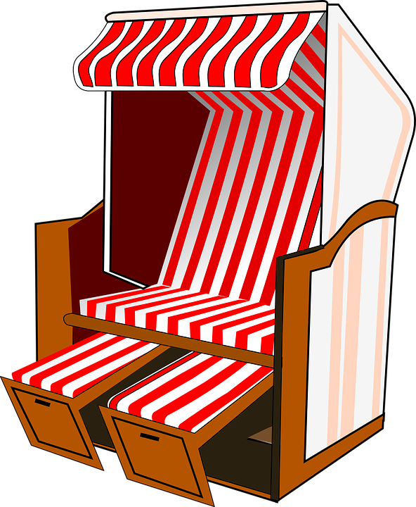 kostenlose vektorgrafik berdachte korbstuhl strand. Black Bedroom Furniture Sets. Home Design Ideas