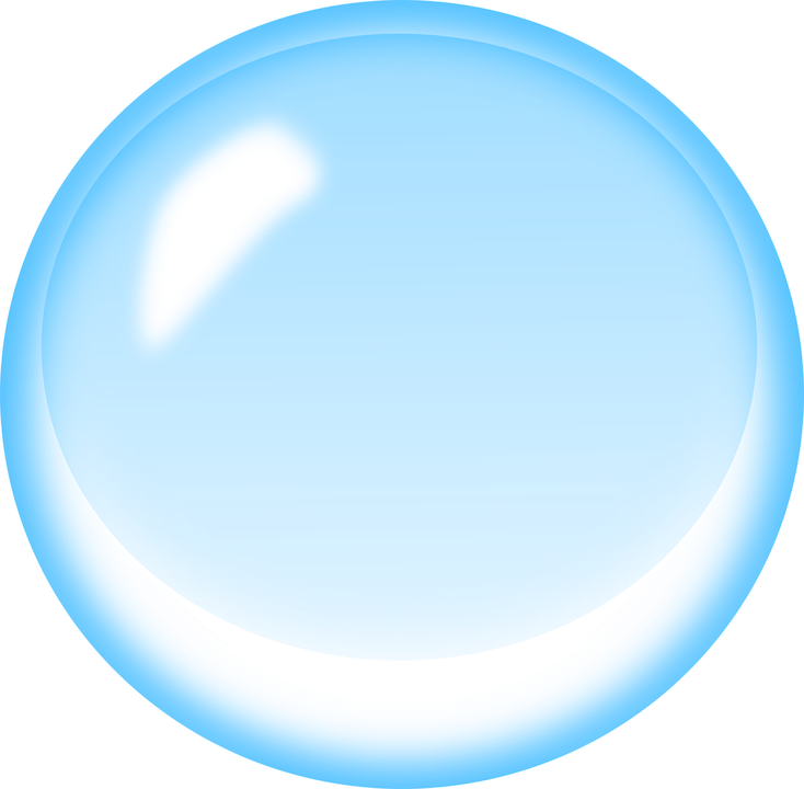 blue bubble free vector graphic on pixabay