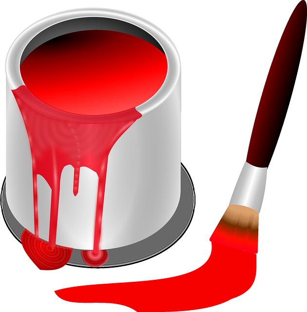 kostenlose vektorgrafik eimer farbe rot pinsel malerei kostenloses bild auf pixabay 157732. Black Bedroom Furniture Sets. Home Design Ideas
