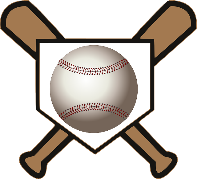 Free vector graphic: Ball, Bats, Home, Baseball, Crossed - Free ...