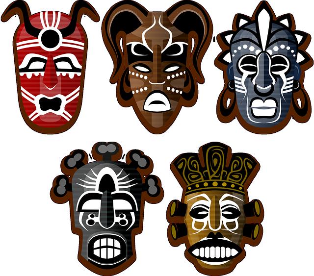 masks tribe africa  u00b7 free vector graphic on pixabay