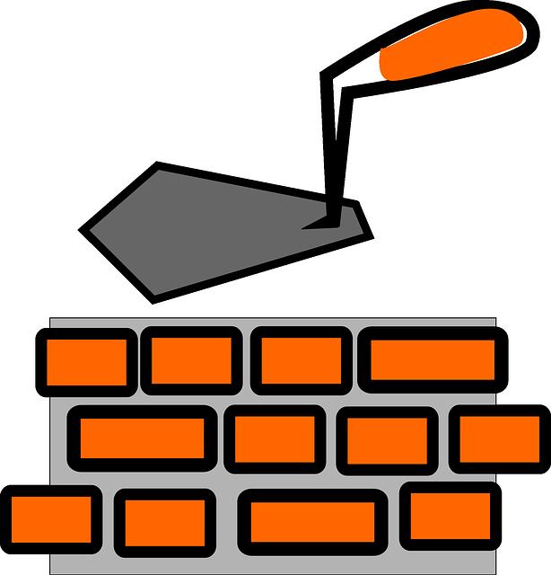 Brick Wall Clip Art: Free Vector Graphic: Brick Layer, Bricks, Wall, Spattle
