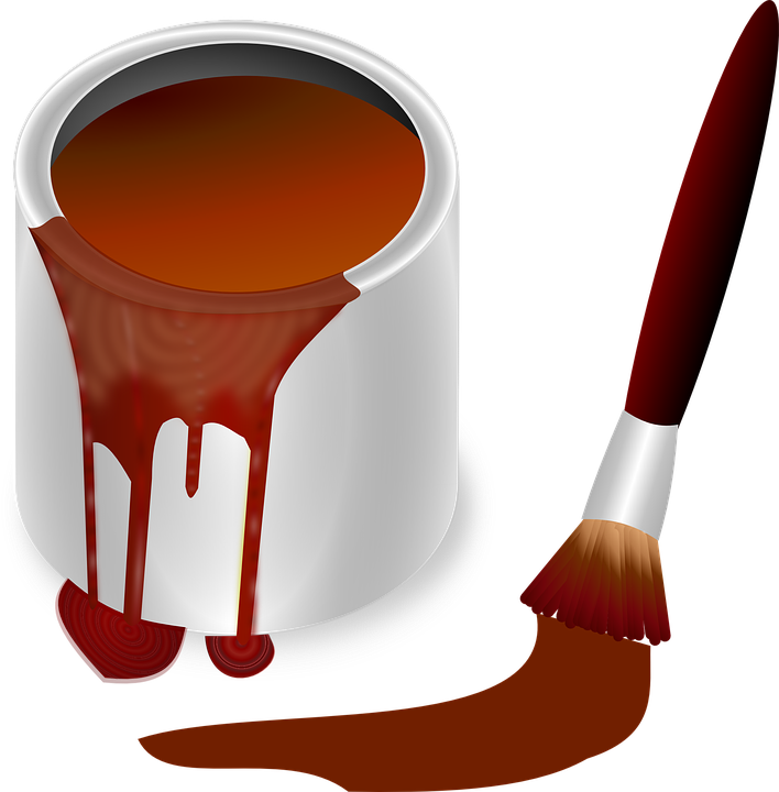 Image vectorielle gratuite pot de peinture pot couleur for Peinture de couleur