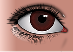 eye, brown