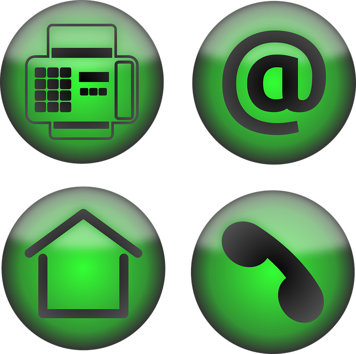 Icons Office Contact Free Vector Graphic On Pixabay
