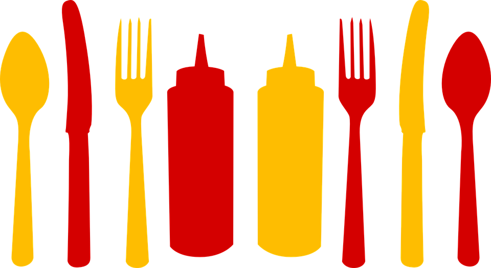 bar ketchup cutlery free vector graphic on pixabay. Black Bedroom Furniture Sets. Home Design Ideas