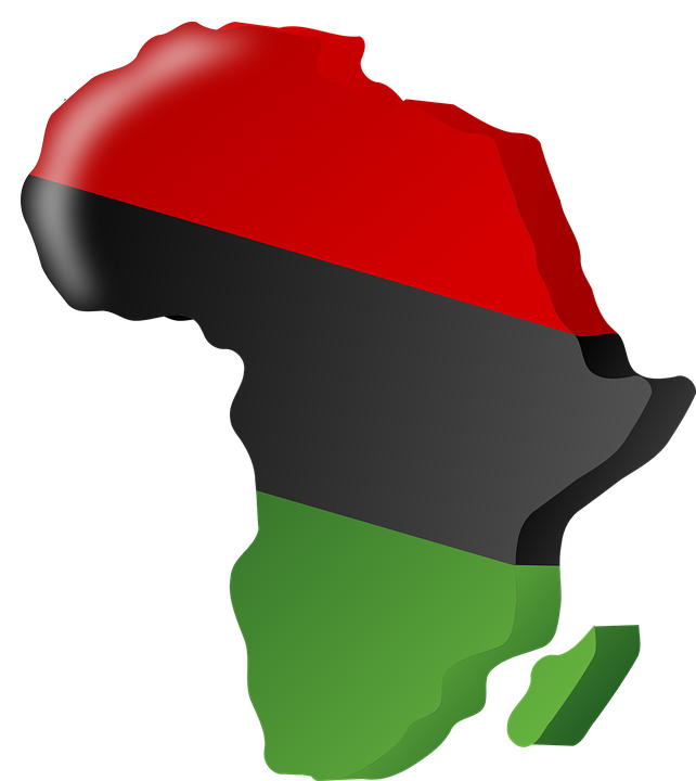 Pan African Flag Africa Continent Nation Flag Red