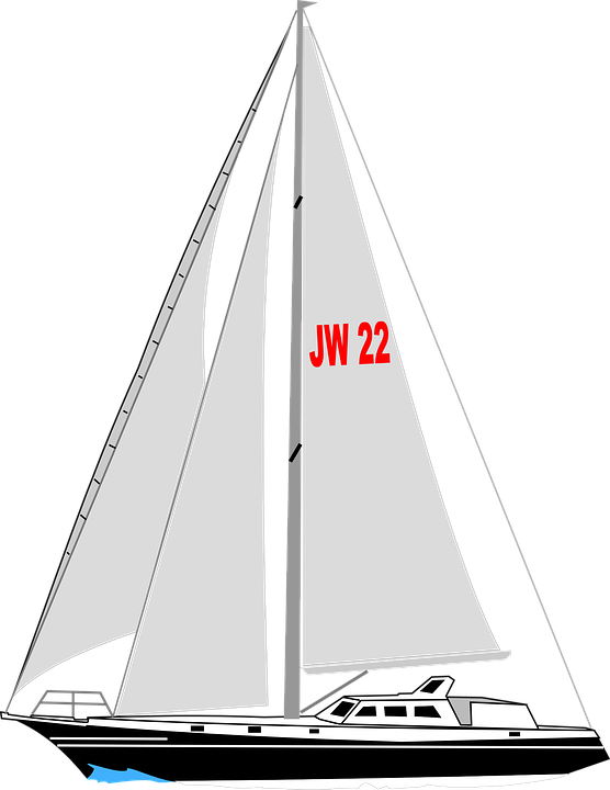 sailboat boat yacht  u00b7 free vector graphic on pixabay sailboat clip art free sailboat clip art black and white