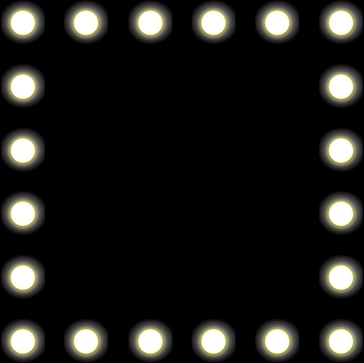 Vector gratis espejo luces backstage negro imagen - Espejos con bombillas ...
