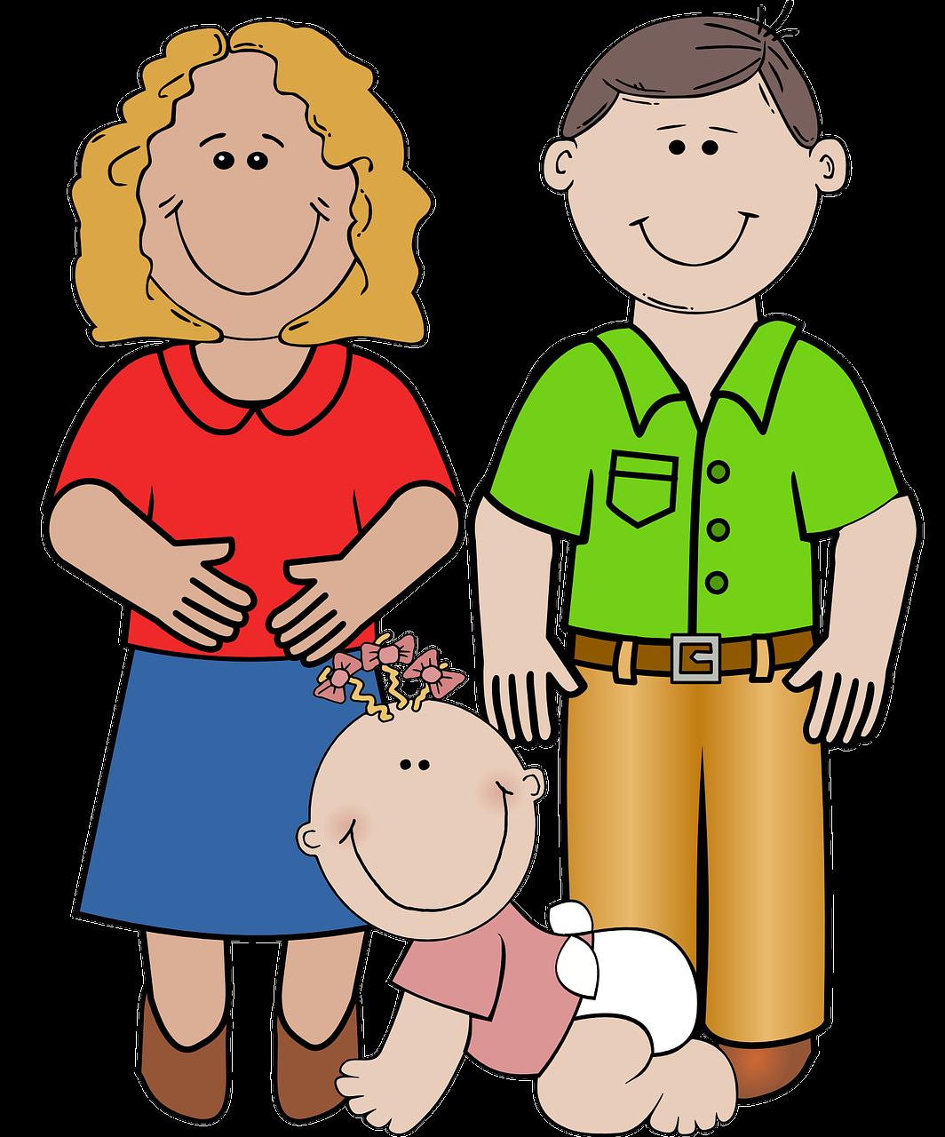 Картинки для детей семья все по отдельности