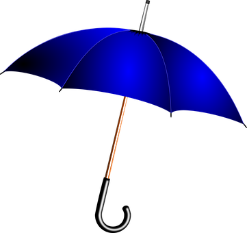 Deštník, Modrá, Déšť, Počasí, Deštník