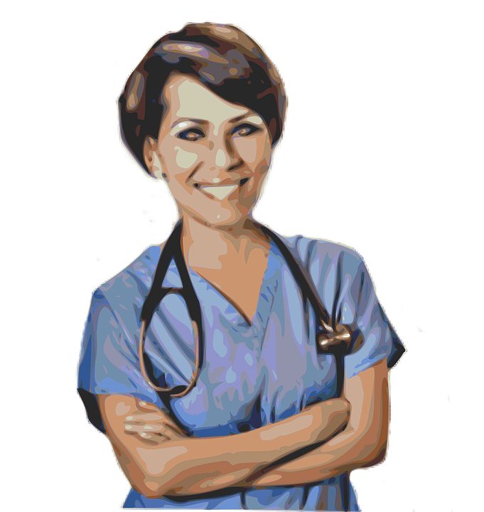 Frau, Krankenschwester, Arzt, Unfall, Notfall