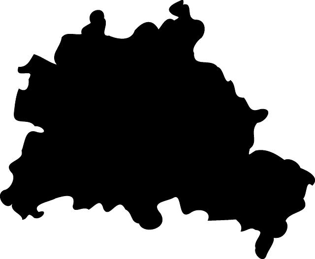 Kostenlose Vektorgrafik Berlin Karte Geographie Stadt