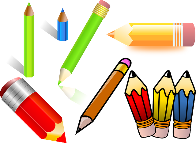 Libretas De Dibujo De Un Artista Freelance: Office Pencils Color · Free Vector Graphic On Pixabay