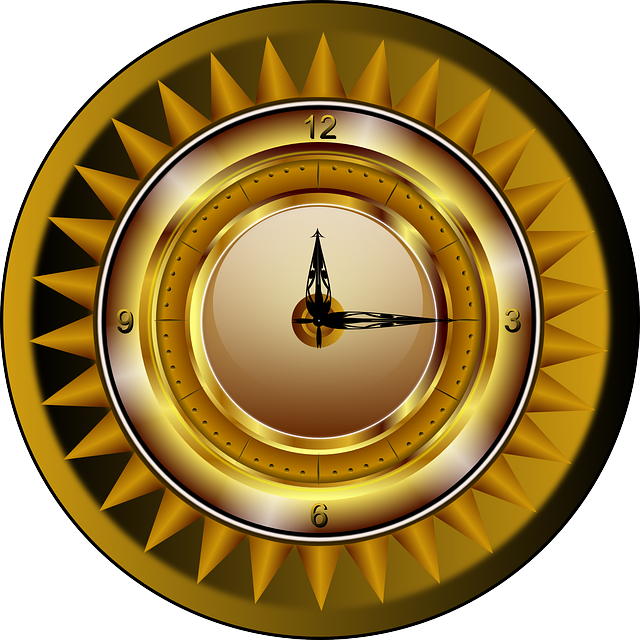 Free Vector Graphic Clock Gold Watch Time Luxury