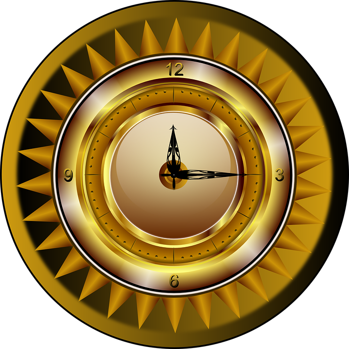 Clock Gold Watch 183 Free Vector Graphic On Pixabay