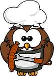 owl, animal, barbecue