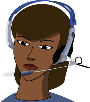 Call-Center, Girl, Headset, Office, Call