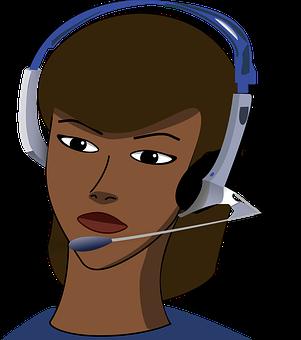 Call-Center, Girl, Headset, Office, Call