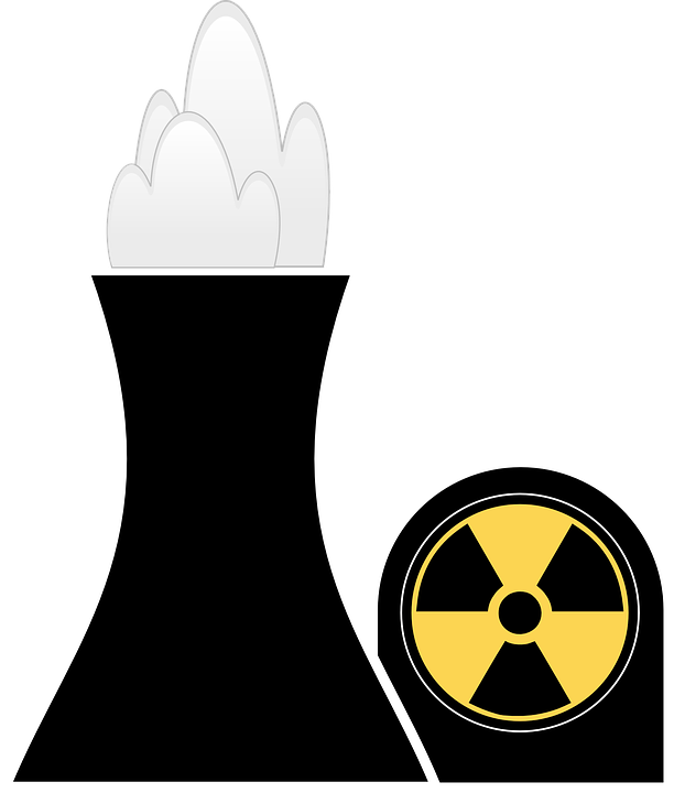 free vector graphic: atomic power plant, nuclear - free image on