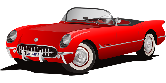 Car, Red, Cabriolet, Sports Car, Chevy
