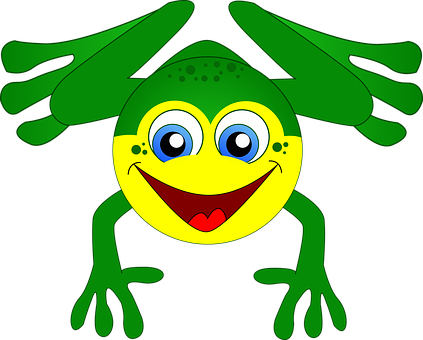 Frog, Amphibian, Green, Cartoon, Animal