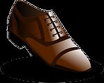 low shoe, shoe, brown
