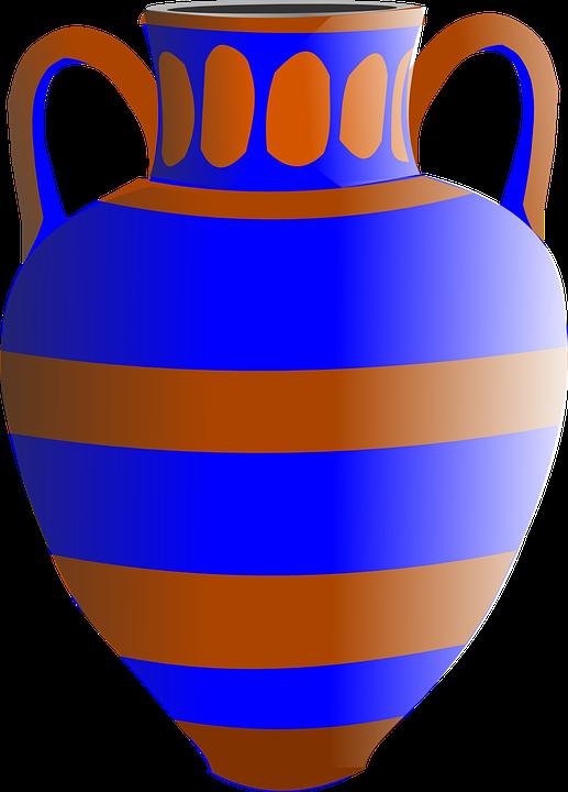 Amphora Flower Vase Free Vector Graphic On Pixabay