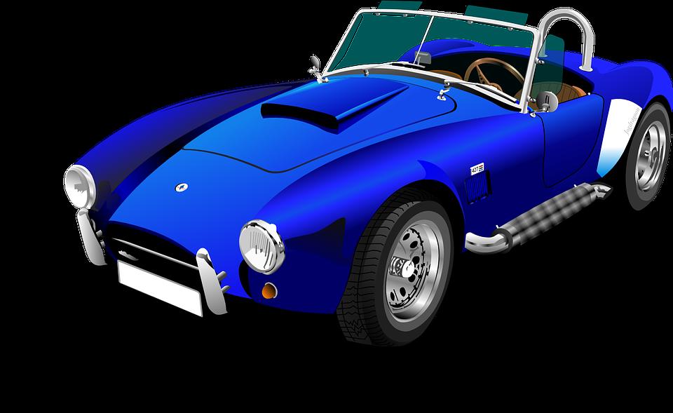 車, 自動, スポーツ車, 自動車, 車両, 青い車, レーシングカー, シェルビーコブラ