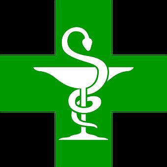 Apothicaire Coupe Médecine Pharmacie Serpe