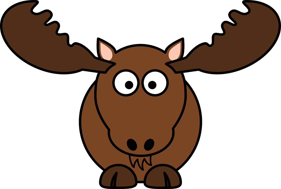 Free vector graphic: Deer, Mammal, Moose, Antler, Animal - Free ...