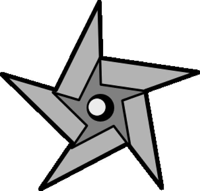 Free vector graphic ninja star weapon metal arms - Shuriken dessin ...