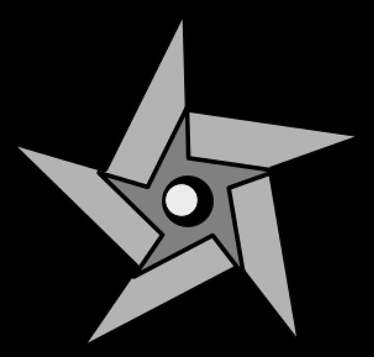 Ninja Star Weapon · Free vector graphic on Pixabay